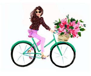 etsy, kate spade, and bicycle art print image