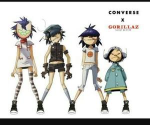gorillaz, noodle, and converse image
