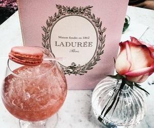 pink, laduree, and drink image