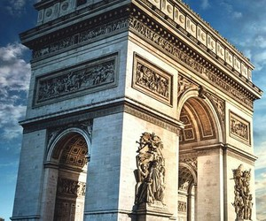 arc de triomphe, paris, and paris france image