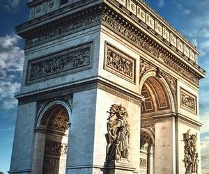 arc de triomphe, paris, and photographie image
