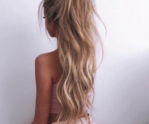 blonde, hairstyle, and mode image
