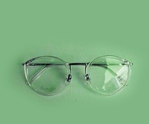 glasses, green, and aesthetic image