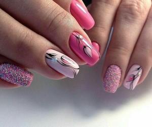 fashion, nails art, and makeup image