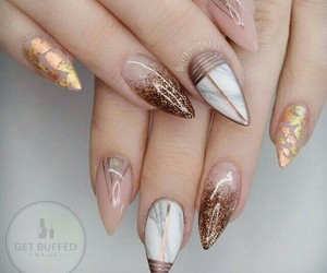 nails, style, and marble image