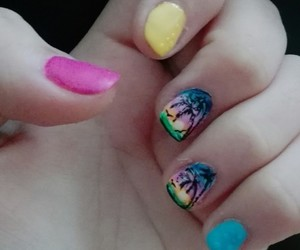 colourful, manicure, and nails image