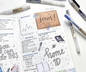 note, school, and study image