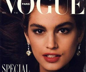 cindy crawford, vogue magazine paris, and february 1987 issue image