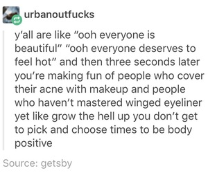 body positive, opinion, and quote image