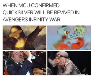 Avengers, quicksilver, and infinity war image