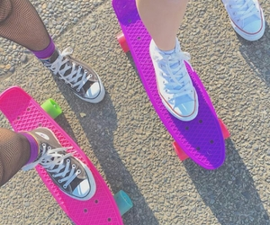 cool, 😻, and penny board image