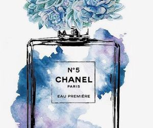 chanel, art, and blue image