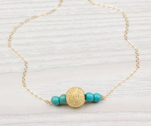 etsy, beach jewelry, and turquoise and gold image