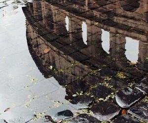 rome, rain, and italy image