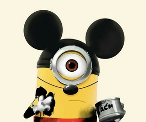 minions, mickey, and mouse image
