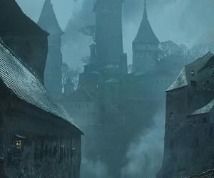 castle, fog, and stone image