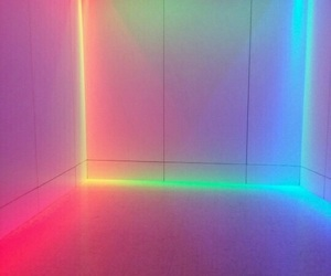 neon, colors, and rainbow image