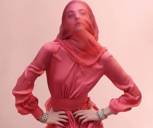 fashion, pink, and model image