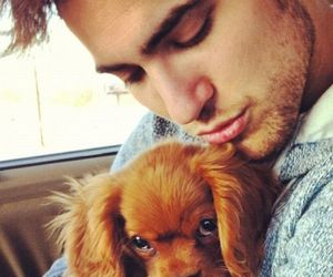 boy, cute, and puppy image