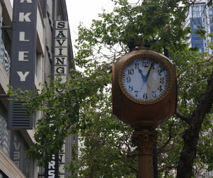 clock, downtown, and san fransico image