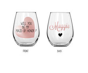 etsy, wedding gift, and red wine glass image