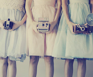 camera, dress, and girl image