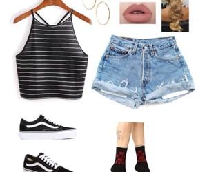 long socks, outfits, and shorts image