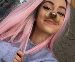 girl, snapchat, and hair image