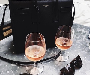drink, black, and sunglasses image