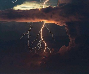 nature, clouds, and lightning image