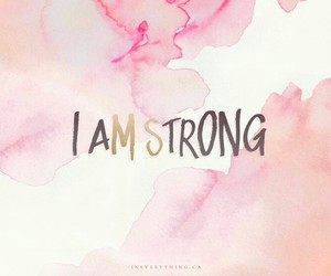 strong, quotes, and pink image