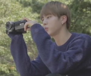 jin, filming, and bts image