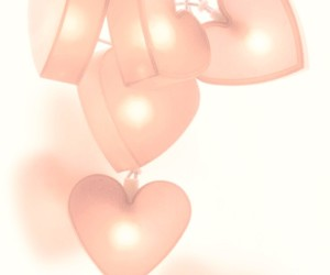 bright, heart, and heart lights image