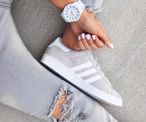 adidas, nails, and watch image