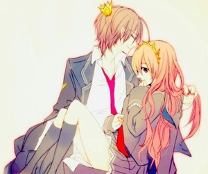 anime, couple, and boy image
