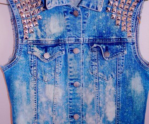 fashion, blue, and studs image