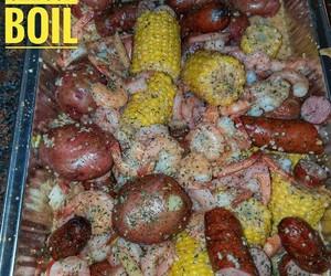 corn, food, and potatoes image