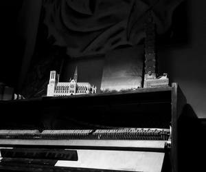 b&w and piano image