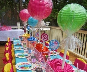 balloons, lollipops, and party image