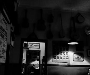 b&w, cafe, and oldschool image