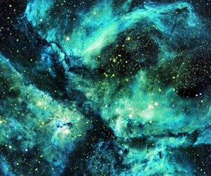 space and turquoise image