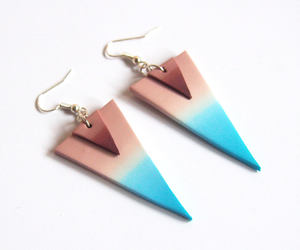 blue, brown, and earrings image