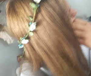 flowers and nicehair image