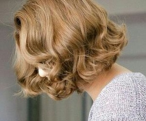 aesthetic, curly, and blond hair image