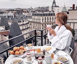 breakfast, paris, and france image
