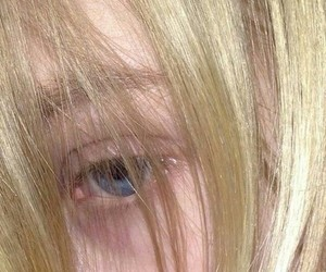 blond hair, blonde, and blue eyes image