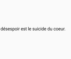 text, coeur, and suicide image