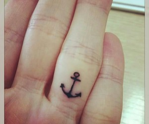 tattoo, finger, and anchors image