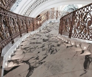 stairs, marble, and luxury image