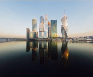 my city, moscow city, and river moscow image